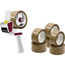 Opslagpakket voor het verpakken van tape dispenser, bruin