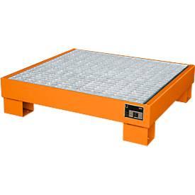 Opvangbakken, Type AW60-2/M, oranje RAL2000