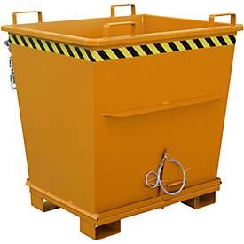 Opvouwbare bodem container BKB 1000, oranje