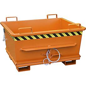 Opvouwbare bodem container BKB 500, oranje, inklapbaar