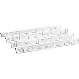 Organisations-Streifen für Personalhefter, 100 Stück
