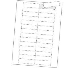 ORGATEX Kartoneinlagen Standard, weiß, 200 Stück, 27 x 75 mm