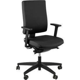 Original Steifensand Bürostuhl CETO CT1310, Synchronmechanik, ohne Armlehnen, Lordosenstütze, schwarz
