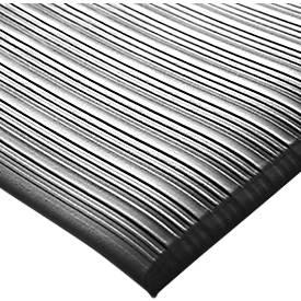 Orthomat® Arbeitsplatzmatte Ribbed, schwarz, lfm.