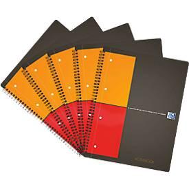 Oxford International Collegeblock Activebook, DIN A4, kariert, 5 Stück