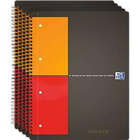 Oxford Notizbuch International, 80g/qm, 80 Blatt, 5 Stück