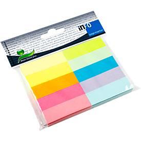 Pagina Marker Info Herkleefbare Office Notes, B 50 x H 15 mm, in verschillende kleuren, 10 x 100  veltjes