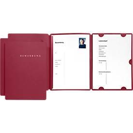 PAGNA Bewerbungmappen Select 3er Set, DIN A4-Format, Karton, Kapazität 30 Blatt