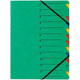 PAGNA Dokumentenmappe Easy, DIN A4, Gummizugverschluss, 12-teilig