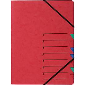 PAGNA Dokumentenmappe Easy, DIN A4, Gummizugverschluss, 7-teilig