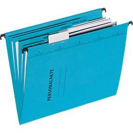 PAGNA Hängemappe, Personalakte, 4 Fächer mit Heftmechanik DIN A4, Karton, blau