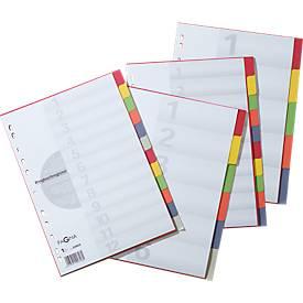 PAGNA Intercalaires de couleurs en carton, A4