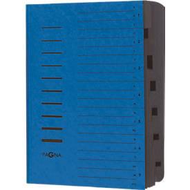 PAGNA Ordnungsmappe, für DIN A4, 7 Fächer, Pressspan, einzeln oder 5 Stück