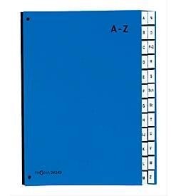 PAGNA Pultordner Color A - Z, auch für Überformate, alphabetisch, 24 Fächer, Polypropylen