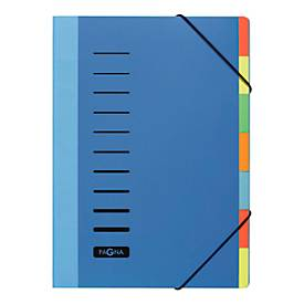 PAGNA Pultordner Color, für DIN A4,  7 Fächer, Polypropylen