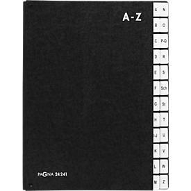 PAGNA Pultordner, für DIN A4, A - Z, 24 Fächer