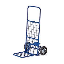 Paketroller mit Gitter, klappbar, Tragkraft 150 kg, Vollgummi-Bereifung