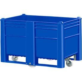 Palettenbox, mit 4 Rollen, geschlossen, 500 l