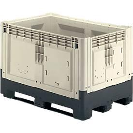 Palletbox met kokers, 565 liter