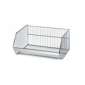 Panier pour rayonnage Type 30, largeur 620 mm