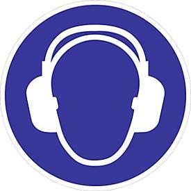 Panneau « Protection auditive obligatoire » sur film plastique