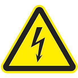 Panneau Attention sous tension électrique