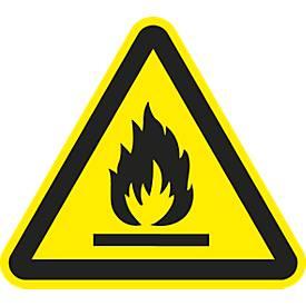 Panneau d'avertissement « Matières inflammables »
