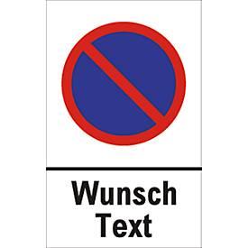 Panneau d'interdiction de stationnement, texte libre  (alu Dibond)