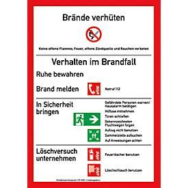 Panneau plastique « Consignes de sécurité incendie »