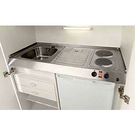 Pantry-Küche, Flügeltüren, Kochplatte, Spüle rechts, B 1000 mm