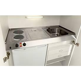 Pantry-Küche, Flügeltüren, Kochplatte, Spüle rechts, B 1200 mm