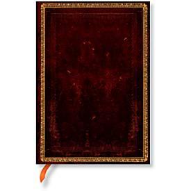 Paperblanks carnet noir marocain en cuir Midi