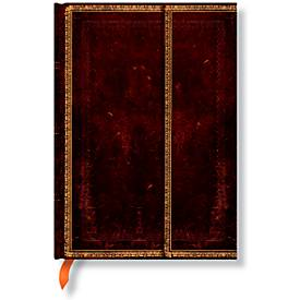 Paperblanks Carnet notes avec rabat cuir marocain Midi ligné