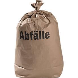 Papier-Abfallsäcke, nassfest, 2-lagig