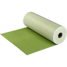 Papier cadeau en grand rouleau, rayé vert/vert/blanc