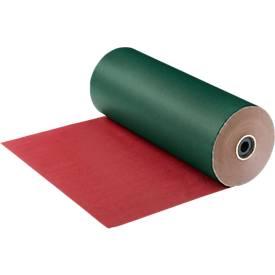 Papier cadeau en grand rouleau, vert/rouge