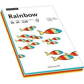 Papier copieur Rainbow coloris assortis, A4, 80 g/m²