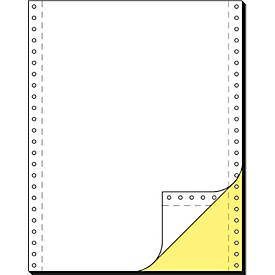 Papier informatique en bande, copie jaune, double, vierge, 1000 feuilles