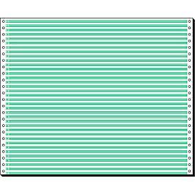 Papier informatique en bande, simple, lignes vertes, 2000 feuilles