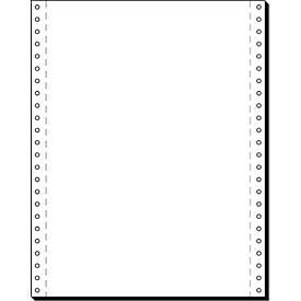 Papier informatique en bande, simple, vierge, 2000 feuilles