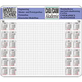 Papier-Mousepad Memo, inklusive 2c- Druck, 230 x 200 mm