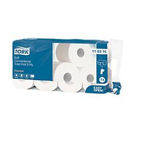 Papier toilette Tork, 250 feuilles par rouleau, qualité Premium, 72 rouleaux