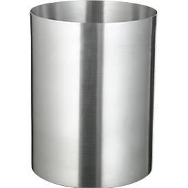 Papierkorb, Aluminium, 13 l, ohne Löschdeckel