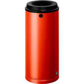 Papierkorb für den Außen- & Inneneinsatz mit Wandhalterung und Schloss, 24 Liter