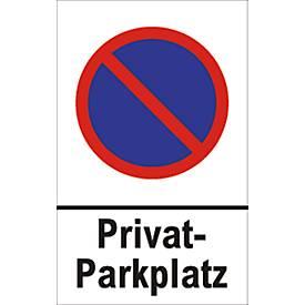 Parkverbot-Schilder, Privatparkplatz