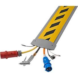 Passage à câble B25 EasyLoader Max, gris/couvercle jaune/noir