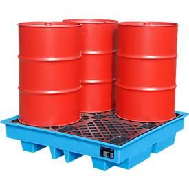 PE-Auffangwannen für 4 x 200 Liter-Fässer