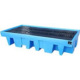 PE-Auffangwannen für 8 x 200 Liter-Fässer oder 2 x 1000 Liter IBC