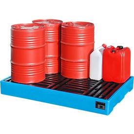 PE-Bodenschutzwannen für Kleingebinde und 200 Liter-Fässer
