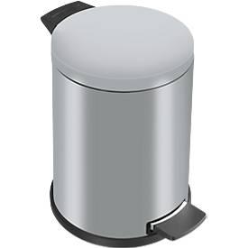 Pedaalemmer Profi Line Solid 12 liter, met kunststof binnenemmer, zilver